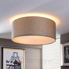 Srebrnoszara lampa sufitowa PITTA z materiału 9620653 Wall Lights, Led, Lighting, Home Decor, Appliques, Decoration Home, Light Fixtures, Room Decor, Lights