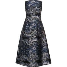 Osman Marble-Jacquard Strapless Gown as seen on Miranda Kerr
