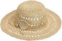 chapeus de praia Crochet Hat With Brim, Crochet Summer Hats, Crochet Baby Beanie, Crochet Hat For Women, Knitted Hats, Crochet Sandals, Crochet Slippers, Crochet Ripple, Knit Crochet