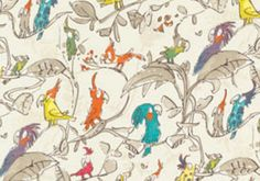 Discover hundreds of wallpaper ideas on HOUSE - design, food and travel by House & Garden including Cockatoos by Quentin Blake at Osborne & Little Osborne And Little Wallpaper, Hall Wallpaper, Fabric Wallpaper, Wallpaper Direct, Wallpaper Ideas, Childrens Bathroom, Bathroom Kids, Bathrooms, Parrot Wallpaper