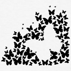 Animal Silhouette T-Shirts from Spreadshirt ✓ Unique designs ✓ Easy 30 day return policy ✓ Shop Animal Silhouette T-Shirts now! Silhouette Pictures, Animal Silhouette, Black Silhouette, Silhouette Design, Silhouette Cameo, Butterfly Coloring Page, Butterfly Art, Butterfly Design, Butterflies