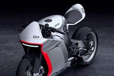 MONO RACR A motor-up concept bike by Huge Moto, designed around a Honda CBR  1000cc powerplant.       Bill Webb and the team at Huge Moto (the passion project of Huge Design     , SF) have been working on an evolution of their original Honda CBR     street fighter kit. Part by part the concept