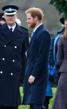 Prince Harry departs after attending the Sunday service at St Mary Magdalene Church, Sandringham on December 27, 2015 in King's Lynn, England.