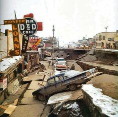 Anchorage Alaska | Anchorage, Alaska - 1964 Earthquake, downtown Anchorage.