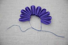 Fabric flowers, so adorable and easy