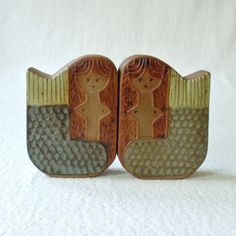 Vintage Danish Modern Mermaid Salt and Pepper Shakers