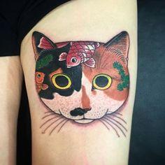 @monmoncats by @horitomo_stateofgrace #stateofgracetattoo #sanjose #tattoo #bayarea #horitomo #irezumi #japanesetattoo #neko #cat #cats #monmoncat #monmoncats by stateofgracetattoo https://instagram.com/p/6DJGnPEya1/