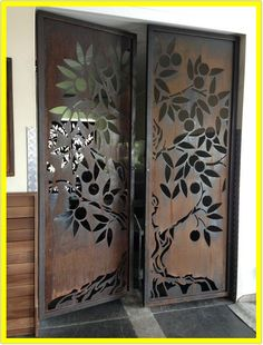 Ideas Metal Screen Design Glasses For 2019 Steel Gate Design, Door Gate Design, Main Door Design, Wooden Door Design, Railing Design, Screen Design, Metal Screen, Black Screen, Decorative Screens