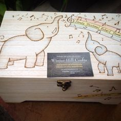 New baby box large wooden keepsake box by winterhillcrafts on Etsy