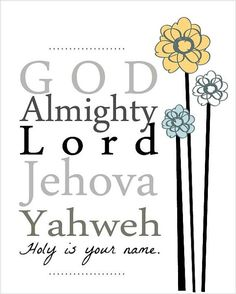 images of god   Yahweh (Lord, Jehovah)