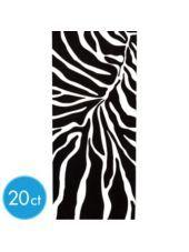 Zebra Print Treat Bag 20ct-Favor Bags-Girls Party Favors-Birthday Party Favors-Birthday Party Supplies-Party City