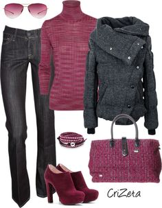 """Raspberry Mood"" by crizeta77 ❤ liked on Polyvore"