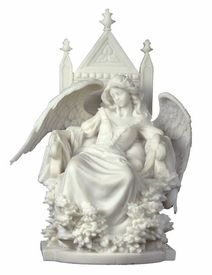 Female Gothic Angel Sleeping in a Throne Fantasy Sculpture - Statues & Sculptures - Veronese Collection