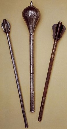 Persian maces, 17th and 18th centuries.