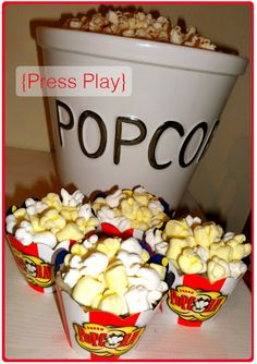 Popcorn Cupcakes...maybe for April Fools Dinner!