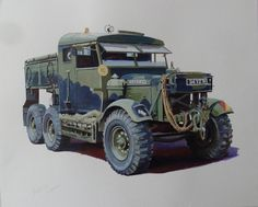 Scammell Pioneer Wrecker. Painting by Mike Jeffries