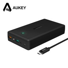 AUKEY 30000mAh Power Bank Quick Charge 3.0 Dual USB Mobile Portable Charger External Battery for iPhone 7 Xiaomi Mi5 Redmi Meizu