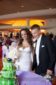 Lambeau Field wedding // photo by Molly Marie Photography ...