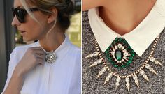 Use these vintage costume brooches in a new way for a fresh and fabulous look