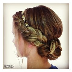 I like this style but I'm thinking about making sone hair accessories to sell for prom up-do's :)