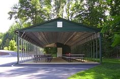 Steel carports are a smart, economical way to protect your vehicles from the elements, but with so many practical uses, why stop there? Here are a list of surprising, creative uses for metal carports. Prefab Metal Garage, Steel Garage Buildings, Metal Storage Buildings, Carport Garage, Shed Storage, Built In Storage, Residential Steel Buildings, Steel Carports