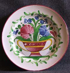 Assiette-faience-Les-Islettes-Décor-floral-coupe-fleurie