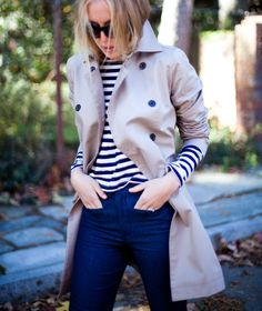 I have all the components for this outfit, I could easily roll/push up the sleeves of my trench!