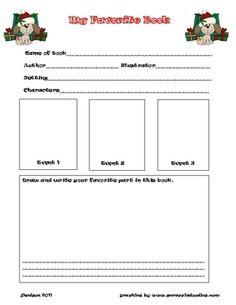 NonFiction Book Report FormPdf  Teaching    Fiction