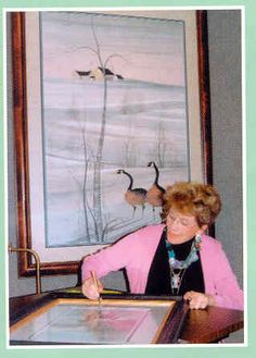 P. Buckley Moss, famous artist from my hometown. I still love her earliest works the best.