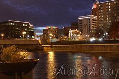 Night Shoot #ArinikoArtistry #Photographer #Lansing #Downtown #Michigan #evening #WallArt