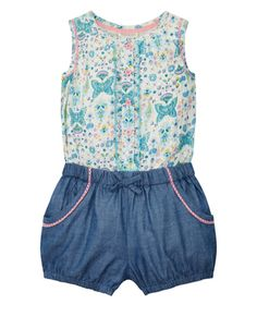 Our adorable Chloe playsuit for baby girls is designed with a  butterfly-print bodice with bec634e7cfdc