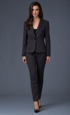 Resultado de imagen de modelos de traje sastre para dama con pantalon recto