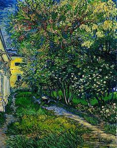 De tuin van de inrichting in Saint-Rémy - Vincent van Gogh (1853 - 1890)