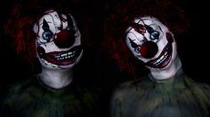 Poltergeist Clown Movie Makeup Tutorial 2015