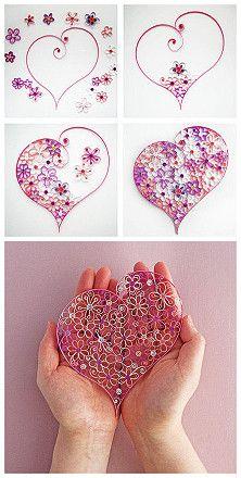 corazon de cartulinas
