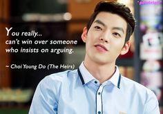 The Heirs / Inheritors quotes | Kim Woo Bin as Choi Young Do Heirs Korean Drama, Korean Drama Quotes, The Heirs, Korean Dramas, Kim Rae Won, Star Of The Week, Moorim School, Drama Memes, Kim Woo Bin