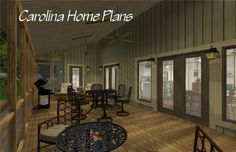 Country craftsman house plan with large screened porch for easy entertaining 3d House Plans, Porch House Plans, Bedroom House Plans, Easy Entertaining, Open Floor, Porches, Craftsman, Ms, Ceiling Lights