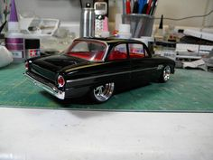"AMT 1962 Ford Falcon Futura. A curbside build from an original 1962 built kit. Go to my ""On The Workbench"" thread for all the details. Enjoy!!!"