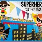 Looking for a cute addition to your Superhero collection?  Make sure you add my multicultural superheroes to your classroom design!  #school...