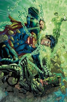Superman, Batman, & The Green Lantern - Jim Lee Art Work!