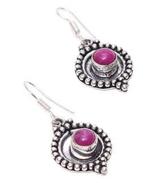 Purple Stone Embellished Earrings #indianroots #jewellery #earrings #stone #embellished #occasionwear