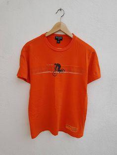 Vintage 90s Polo Jeans Vtg Polo Ralph Lauren Multi Endurance Challenge Chest Cycle Graphic T-Shirt Size M by BubaGumpBudu on Etsy