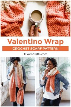 Try this cozy crochet super scarf to keep warm all winter! The Valentino Wrap uses the granny stripe in a fun way to make a pretty color block crochet scarf. This is a beginner friendly crochet scarf pattern, and includes a helpful diagram and photo tutorial. This easy crochet pattern takes a unique spin on the traditional granny stripe (granny square) for a fun and colorful scarf that you won't want to take off. | TL Yarn Crafts #crochetscarf #beginnercrochetpattern #crochetshawl… Crochet Wrap Pattern, Free Crochet, Knit Crochet, Beginner Crochet, Crochet Gifts, Crochet Patterns For Beginners, Easy Crochet Patterns, Cowl Patterns, Crochet Ideas