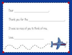 Airplane Fill-in Thank You Note Cards