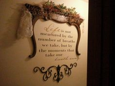Antique mirror harp turned upside down creates a small ledge on top and frames s… – Furniture Makeover