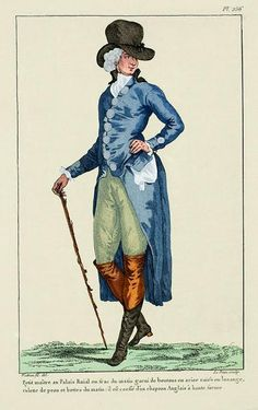 Gentlemen of fashion from 1787/8...