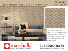Its boring to live in same style, its a wise saying different is good. Bringing you the new #Matrix #Collection from #Marshalls Explore more @ www.marshallswallcoverings.com #DesingerWalls #Wallpaper #WallDecor #WallcoveringsCollection #HomeInterior #DesignWalaColour #MarshallsWallcoverings