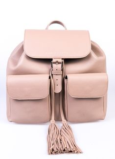 Rose Cappuccino Fringe backpack