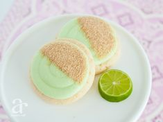 Key Lime Cookies with Frosting & Graham Cracker Crumbs