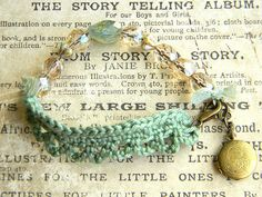 love the mix of crochet and chain Etsy